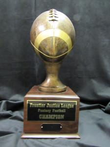Sculptured Football w:base $105.00